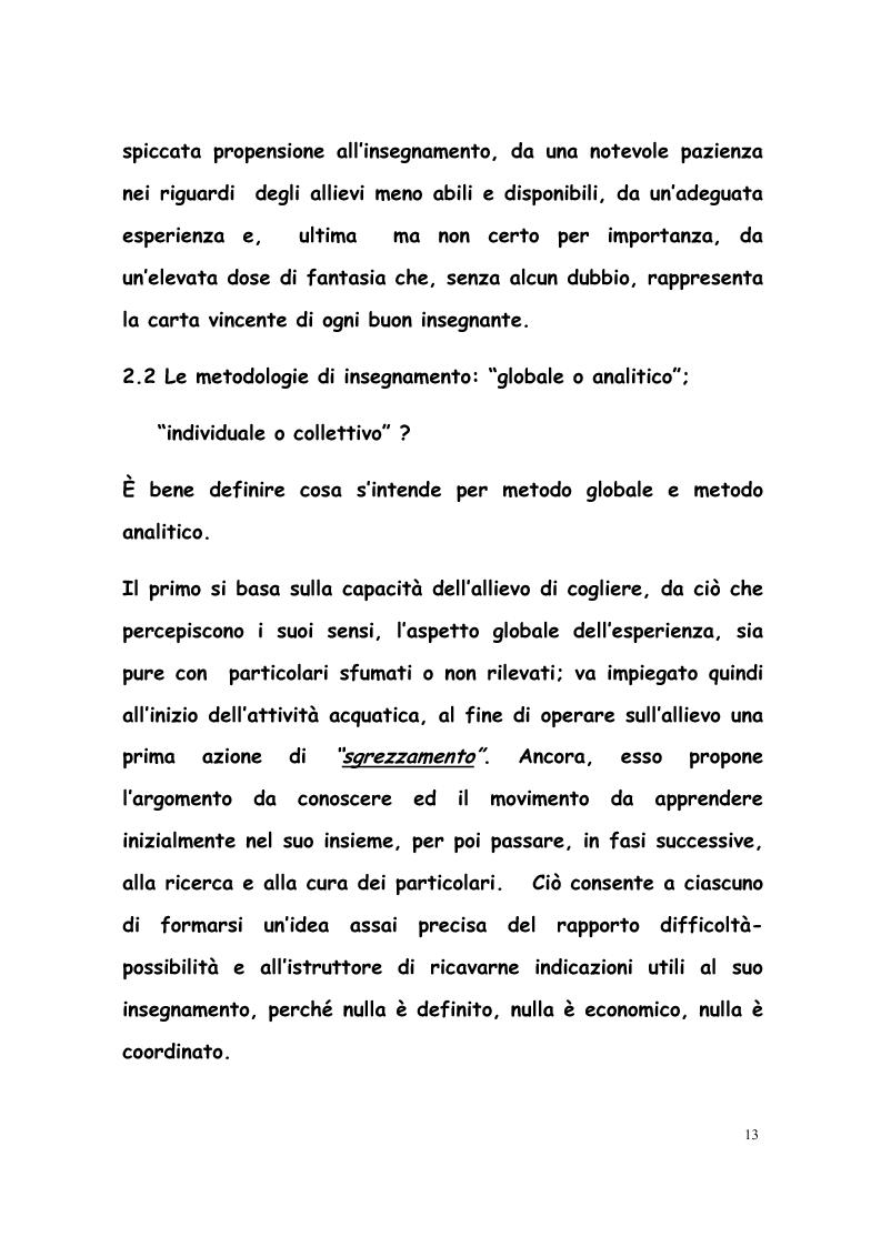 Anteprima della tesi: La formazione di tecnici di nuoto in Italia, Francia, Belgio e Olanda, Pagina 12