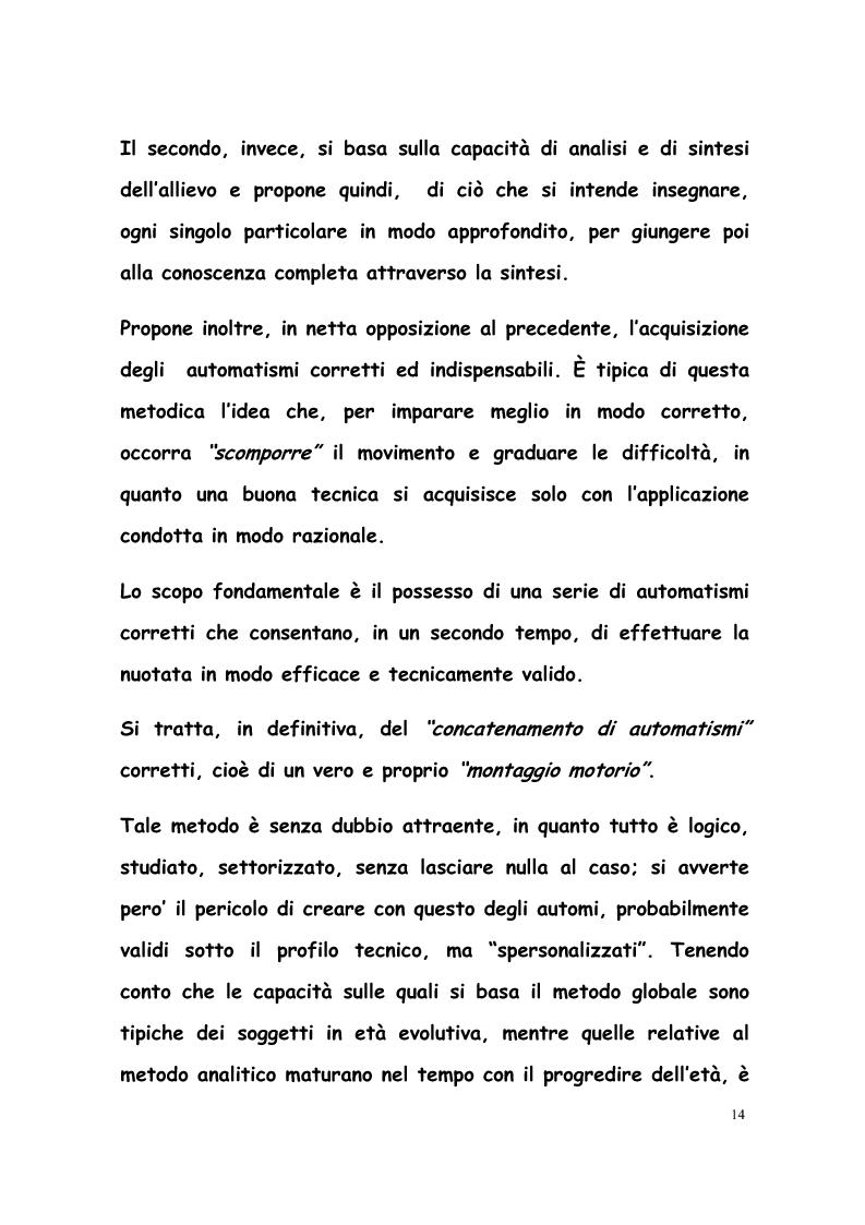 Anteprima della tesi: La formazione di tecnici di nuoto in Italia, Francia, Belgio e Olanda, Pagina 13