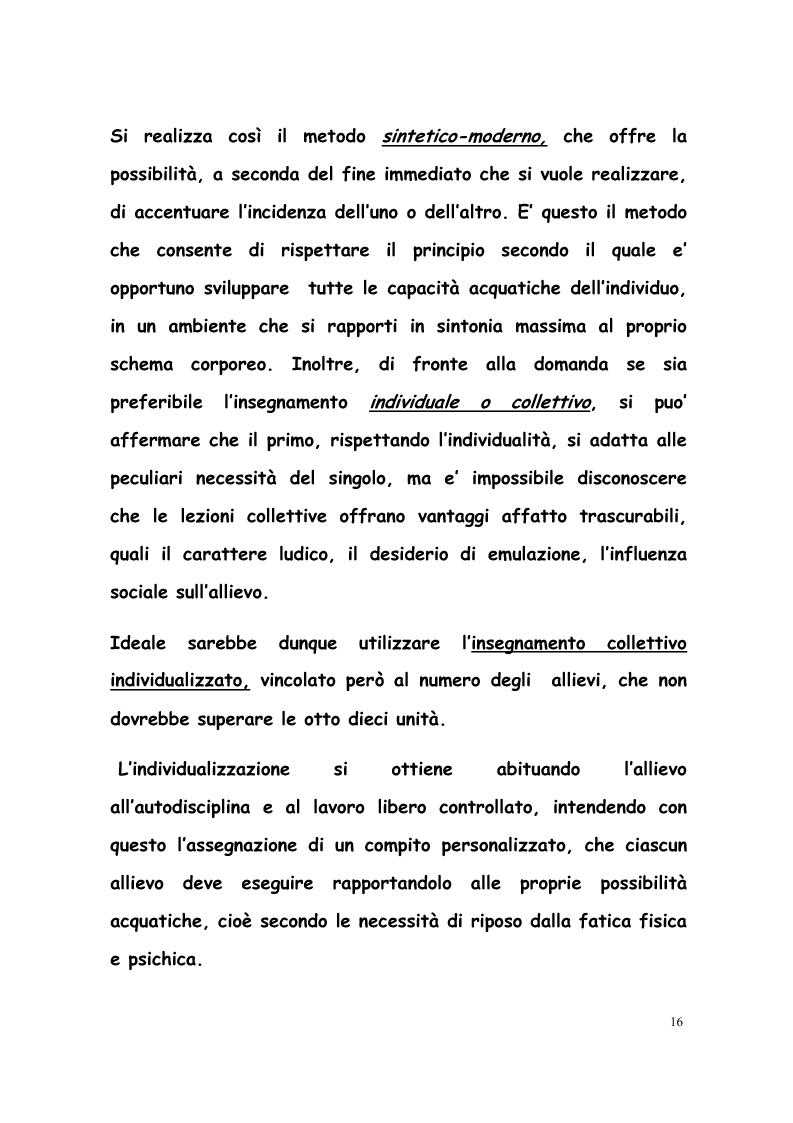 Anteprima della tesi: La formazione di tecnici di nuoto in Italia, Francia, Belgio e Olanda, Pagina 15