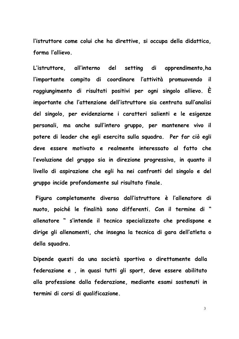 Anteprima della tesi: La formazione di tecnici di nuoto in Italia, Francia, Belgio e Olanda, Pagina 2