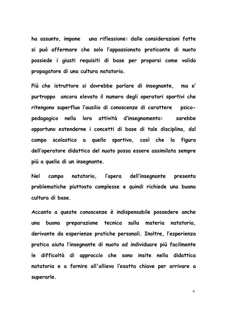 Anteprima della tesi: La formazione di tecnici di nuoto in Italia, Francia, Belgio e Olanda, Pagina 5