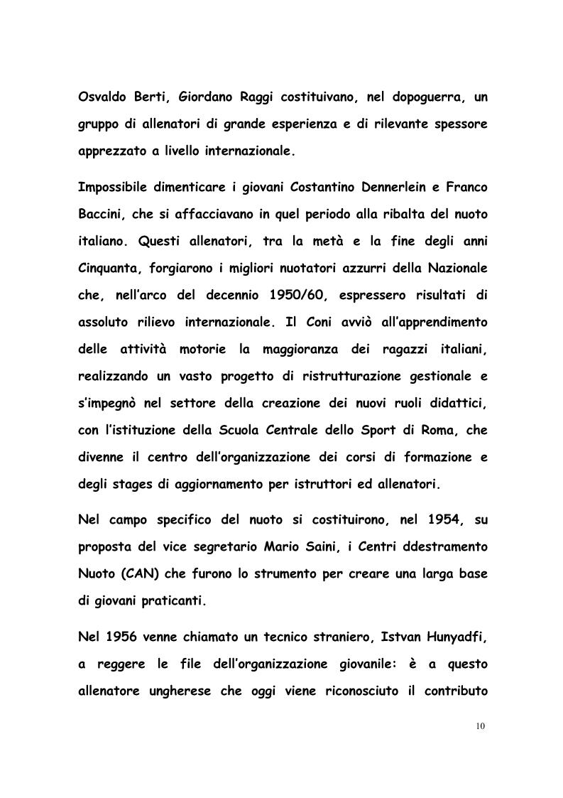 Anteprima della tesi: La formazione di tecnici di nuoto in Italia, Francia, Belgio e Olanda, Pagina 9