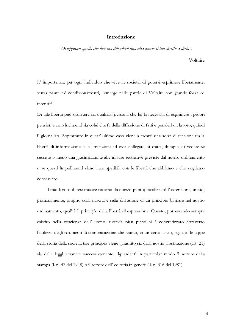 Anteprima della tesi: Disciplina delle pubblicazioni on line. La legge 7 marzo 2001 n. 62, Pagina 1