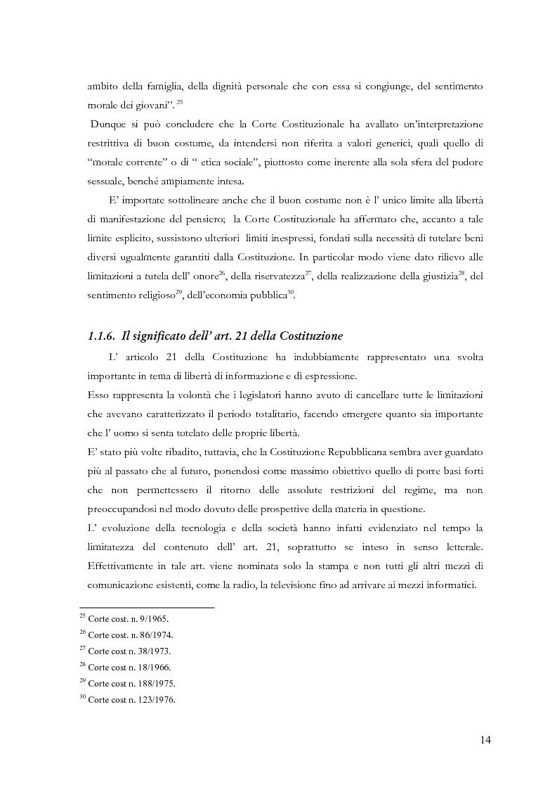 Anteprima della tesi: Disciplina delle pubblicazioni on line. La legge 7 marzo 2001 n. 62, Pagina 11