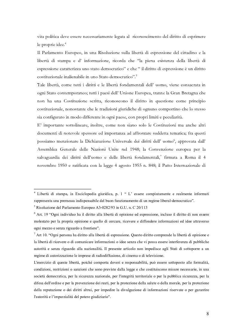 Anteprima della tesi: Disciplina delle pubblicazioni on line. La legge 7 marzo 2001 n. 62, Pagina 5