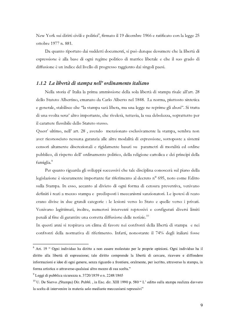 Anteprima della tesi: Disciplina delle pubblicazioni on line. La legge 7 marzo 2001 n. 62, Pagina 6