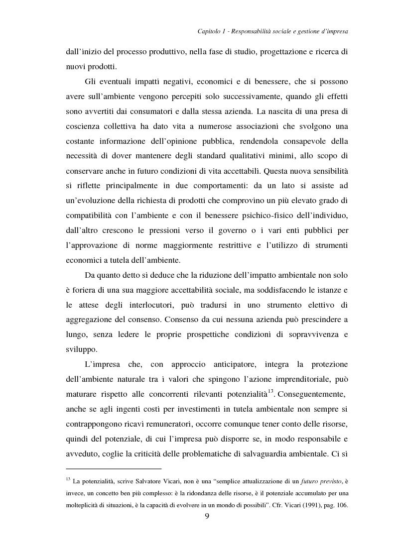 Anteprima della tesi: La responsabilità ambientale e il bilancio sociale: l'esperienza del comparto chimico e petrolifero della provincia di Livorno, Pagina 11