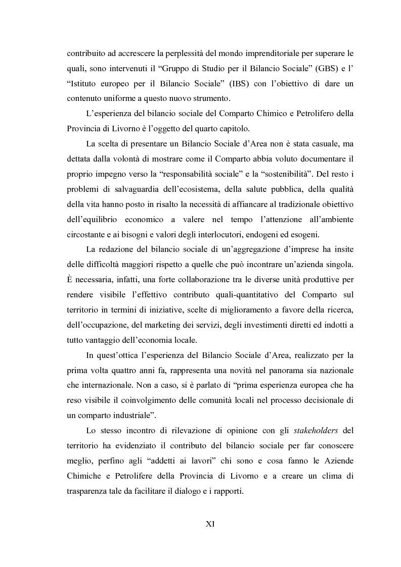 Anteprima della tesi: La responsabilità ambientale e il bilancio sociale: l'esperienza del comparto chimico e petrolifero della provincia di Livorno, Pagina 3