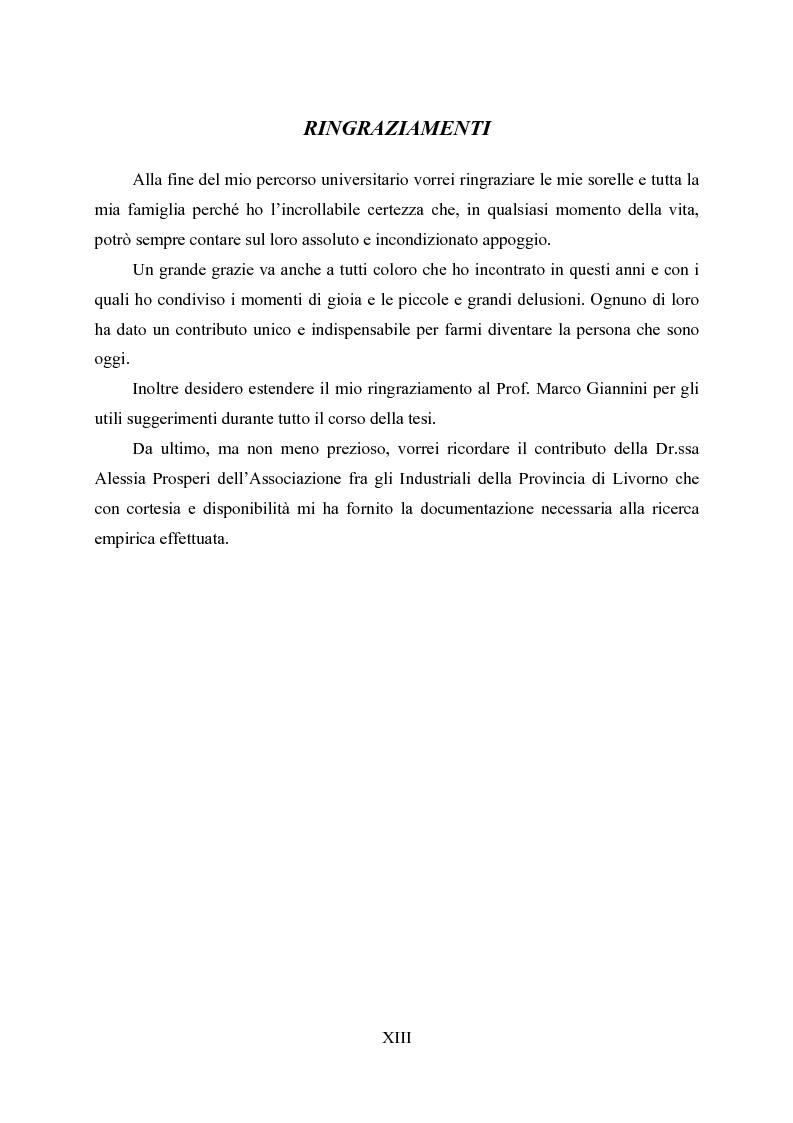 Anteprima della tesi: La responsabilità ambientale e il bilancio sociale: l'esperienza del comparto chimico e petrolifero della provincia di Livorno, Pagina 5