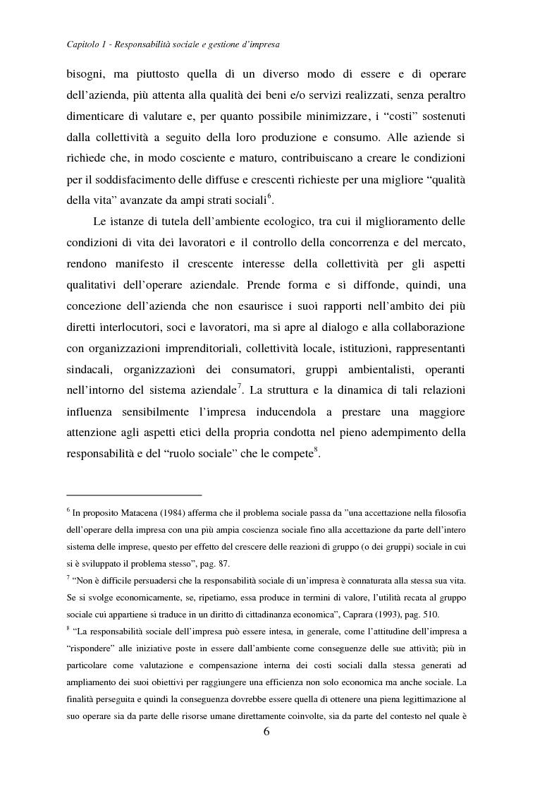 Anteprima della tesi: La responsabilità ambientale e il bilancio sociale: l'esperienza del comparto chimico e petrolifero della provincia di Livorno, Pagina 8