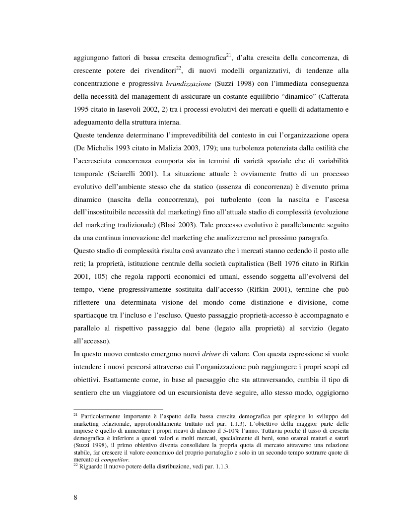 Anteprima della tesi: Marche e tessuto sociale: un approccio interdisciplinare. Dall'analisi dei valori di marca, all'ipotesi di una successione postmoderna delle istituzioni sociali., Pagina 13