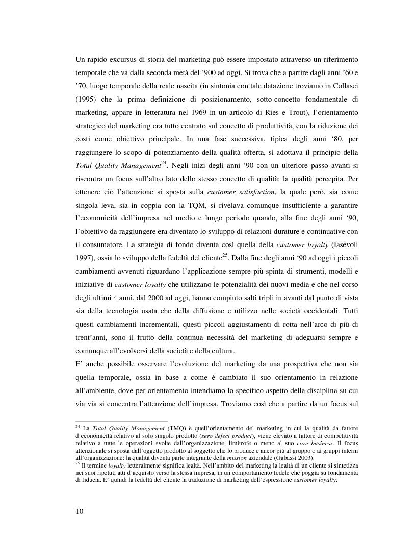 Anteprima della tesi: Marche e tessuto sociale: un approccio interdisciplinare. Dall'analisi dei valori di marca, all'ipotesi di una successione postmoderna delle istituzioni sociali., Pagina 15
