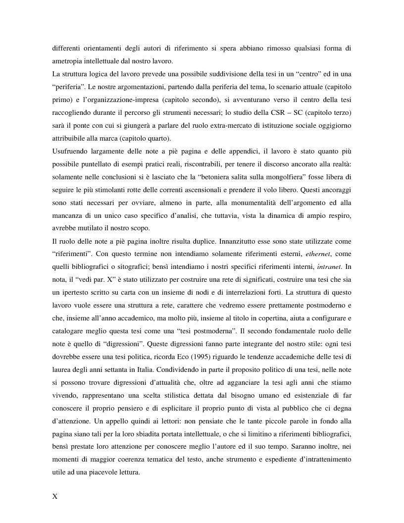 Anteprima della tesi: Marche e tessuto sociale: un approccio interdisciplinare. Dall'analisi dei valori di marca, all'ipotesi di una successione postmoderna delle istituzioni sociali., Pagina 4