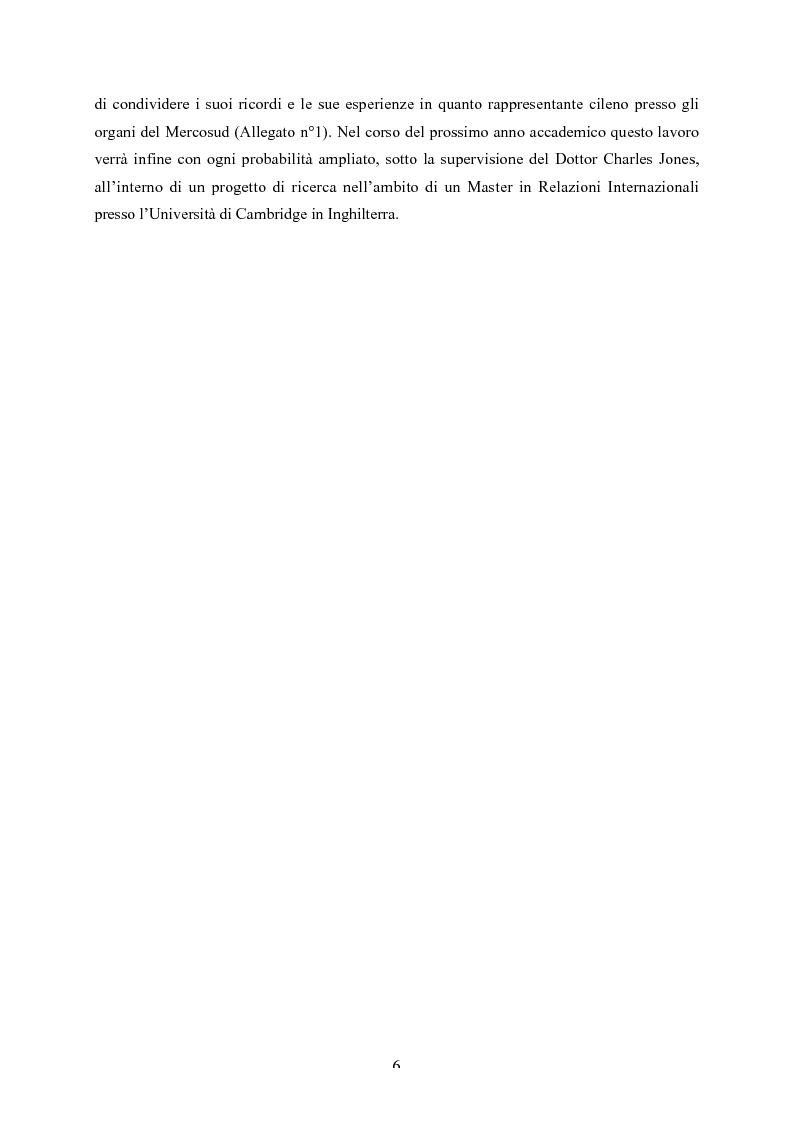 Anteprima della tesi: Le strutture decisionali del Mercosud, Pagina 3