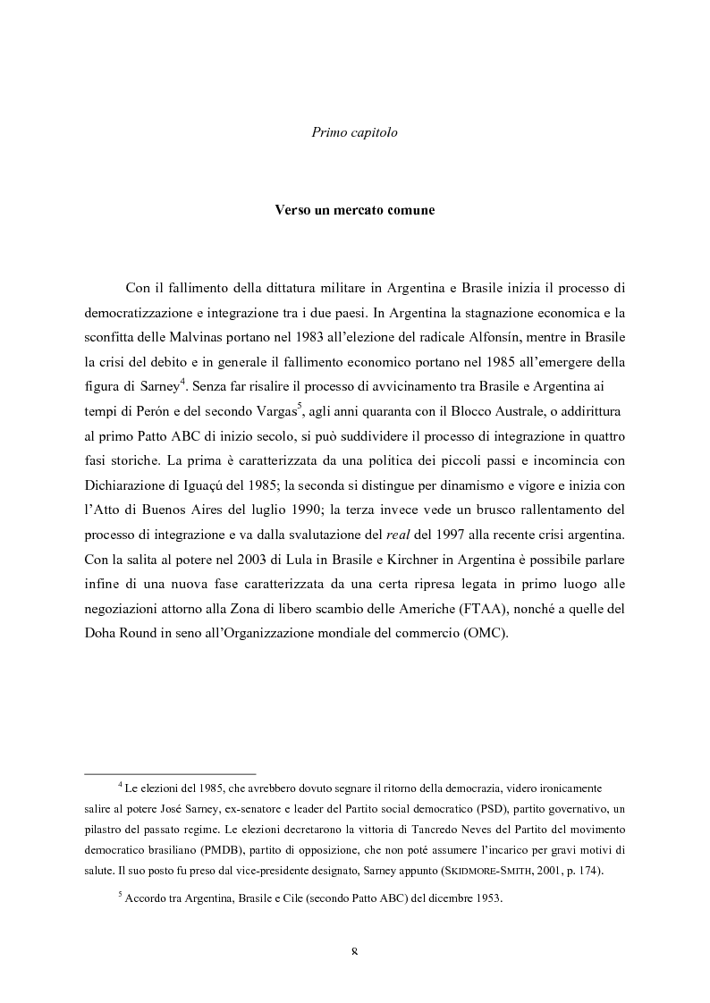 Anteprima della tesi: Le strutture decisionali del Mercosud, Pagina 4