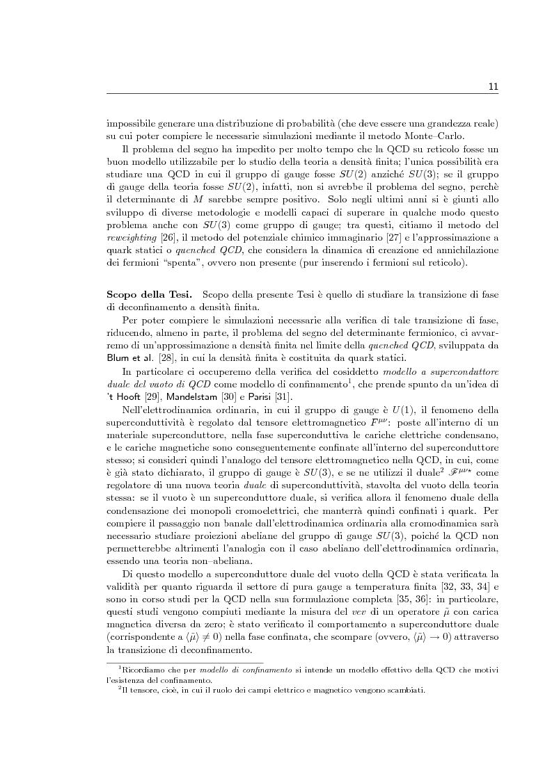 Anteprima della tesi: Transizione di fase di deconfinamento in Cromodinamica Quantistica a densità finita, Pagina 5
