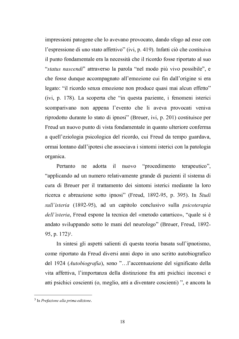 Anteprima della tesi: Il meccanismo della rimozione nella vita psichica - Sue connessioni con la scissione nella psicoanalisi delle psicosi, Pagina 15