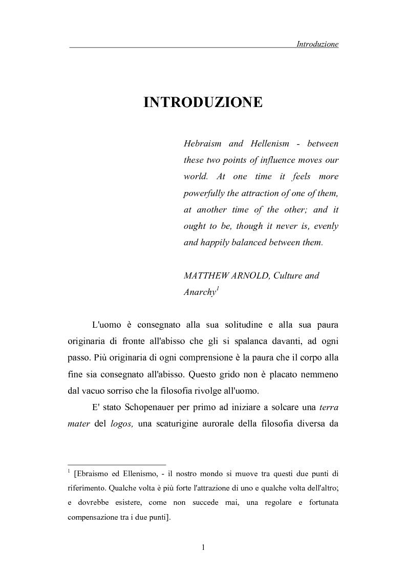 Anteprima della tesi: La morte come critica alla totalità: Franz Rosenzweig e Th. W. Adorno, Pagina 1