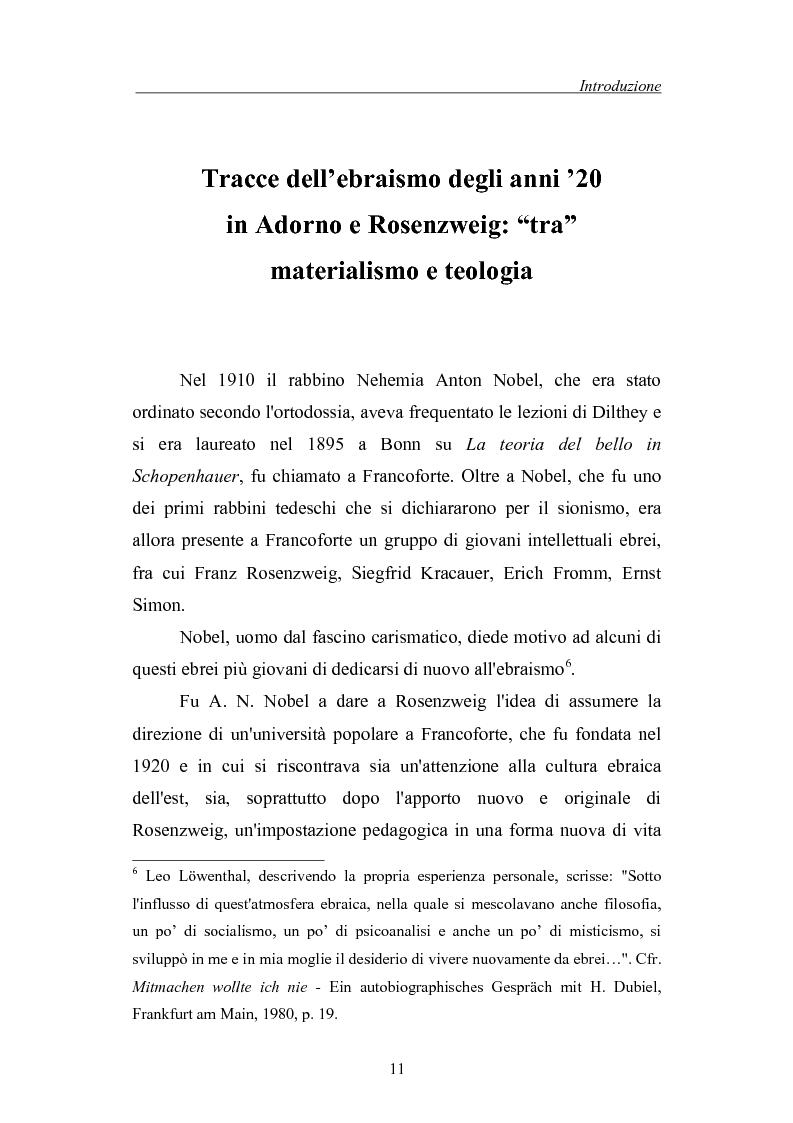 Anteprima della tesi: La morte come critica alla totalità: Franz Rosenzweig e Th. W. Adorno, Pagina 11