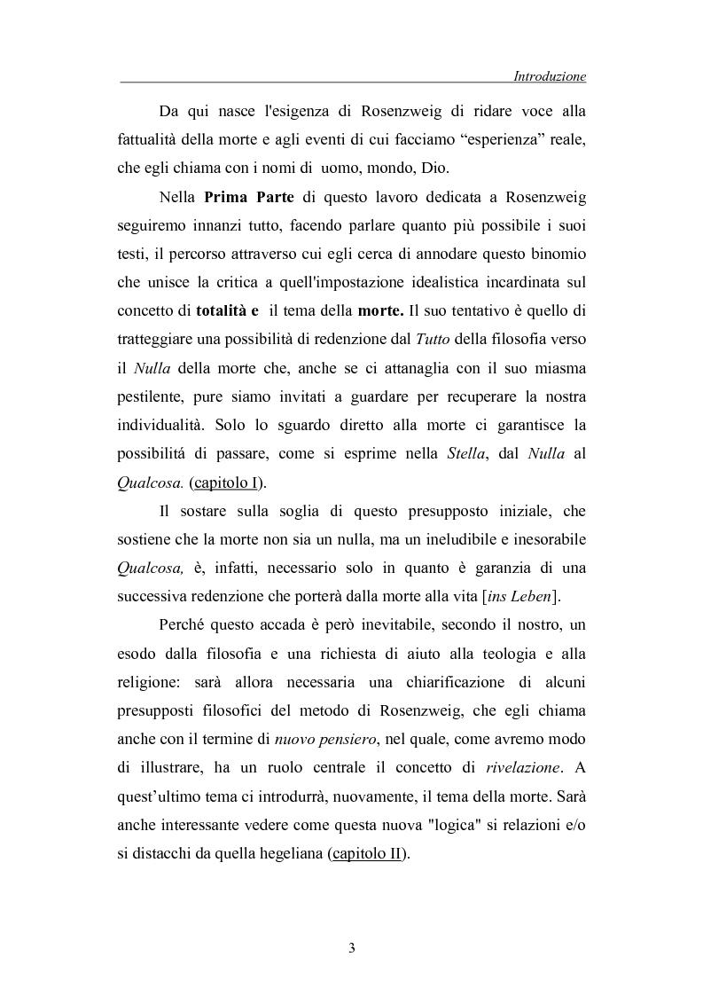 Anteprima della tesi: La morte come critica alla totalità: Franz Rosenzweig e Th. W. Adorno, Pagina 3