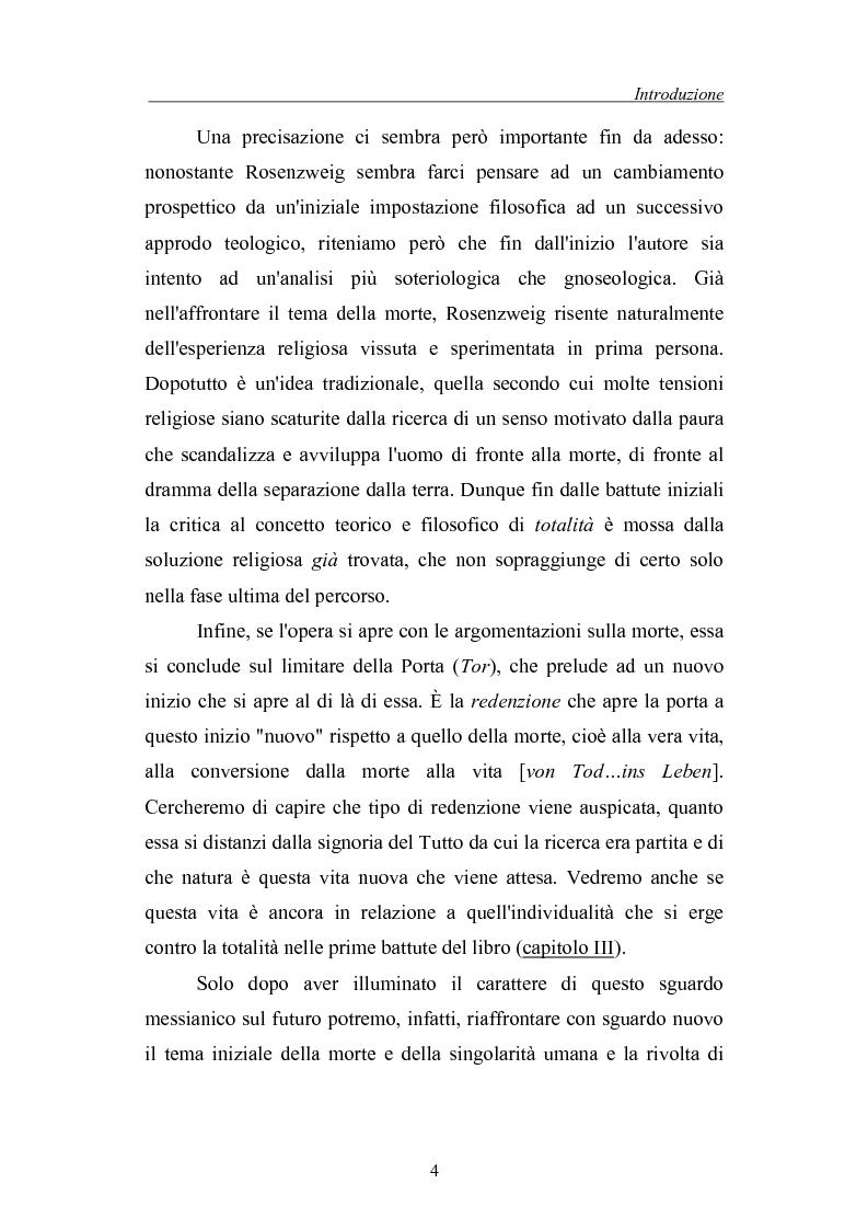 Anteprima della tesi: La morte come critica alla totalità: Franz Rosenzweig e Th. W. Adorno, Pagina 4