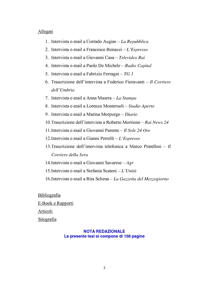 Indice della tesi: Nella Rete delle redazioni: viaggio dal Corriere dell'Umbria a Rai News 24, Pagina 2