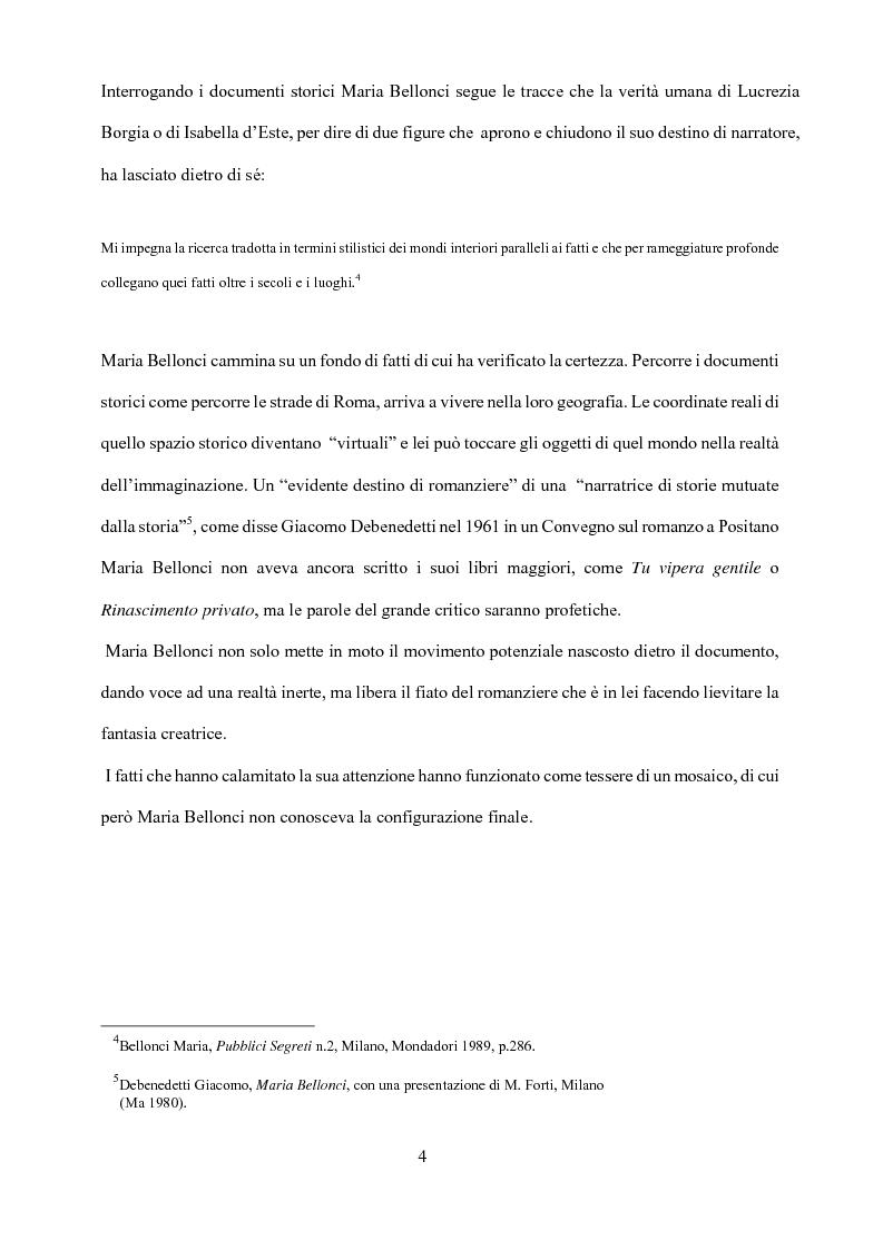 Anteprima della tesi: Maria Bellonci. Dalla storia alla poesia della scrittura., Pagina 2