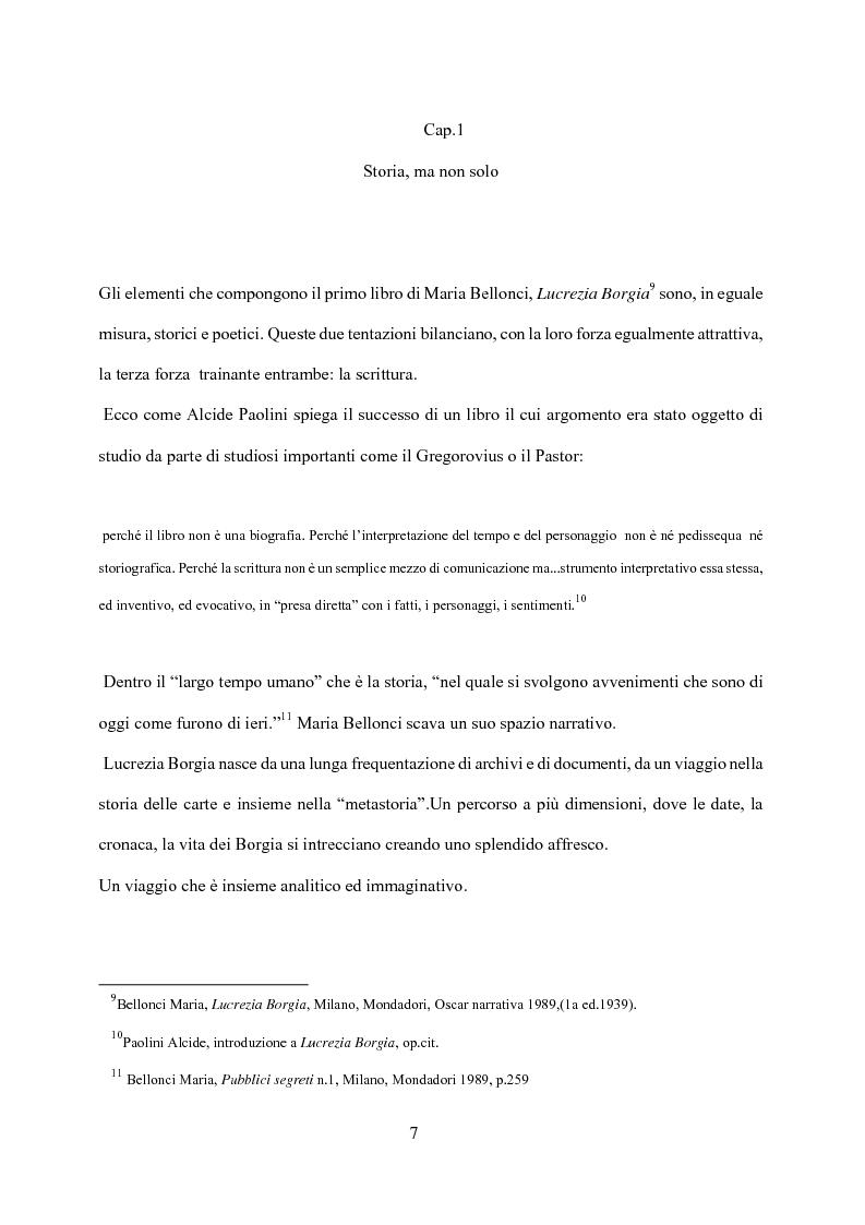 Anteprima della tesi: Maria Bellonci. Dalla storia alla poesia della scrittura., Pagina 5