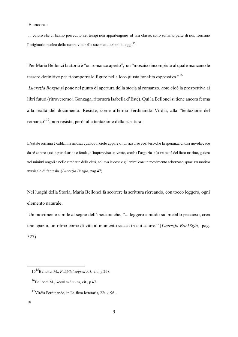 Anteprima della tesi: Maria Bellonci. Dalla storia alla poesia della scrittura., Pagina 7