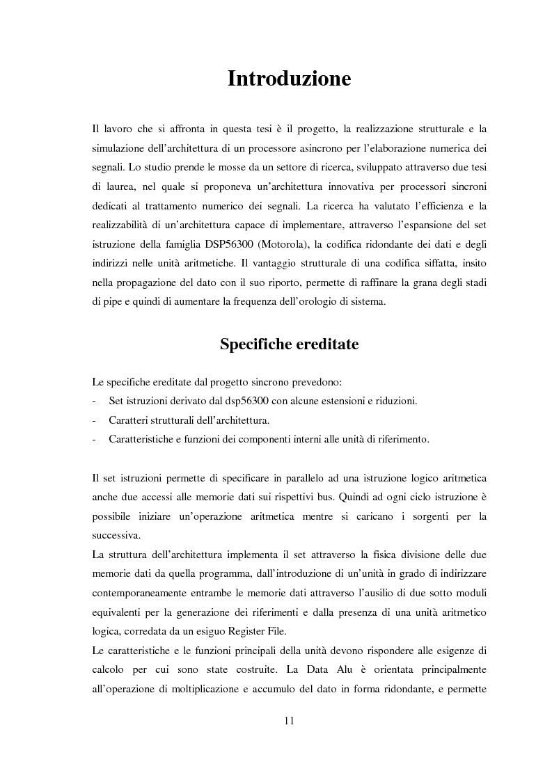 Anteprima della tesi: Progettazione di microprocessori asincroni per l'elaborazione numerica dei segnali, Pagina 1