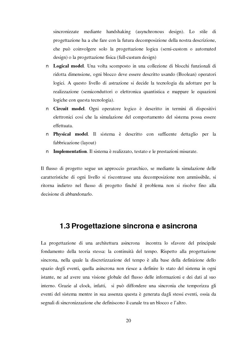 Anteprima della tesi: Progettazione di microprocessori asincroni per l'elaborazione numerica dei segnali, Pagina 10