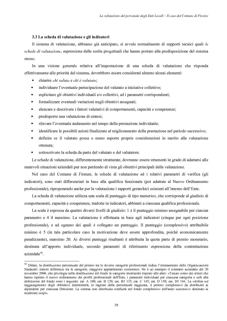 La valutazione del personale degli Enti Locali - Il caso del Comune di Firenze - Tesi di Laurea