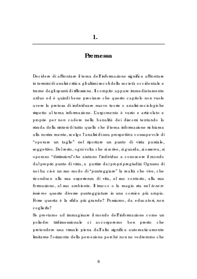 Anteprima della tesi: L' esperienza dell' Informagiovani . Una lettura pedagogica., Pagina 6