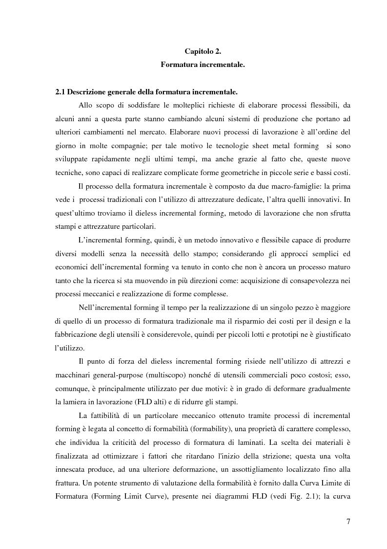 Anteprima della tesi: Studio della accuratezza dimensionale del processo di formatura incrementale tramite macchina di misura a coordinate, Pagina 3