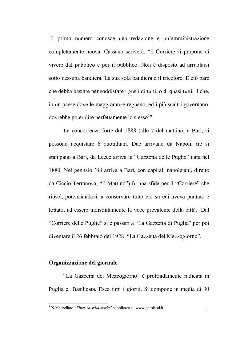"""Anteprima della tesi: La scommessa de """"La Repubblica"""" e del """"Corriere della Sera"""": Un nuovo giornalismo in Puglia?, Pagina 5"""