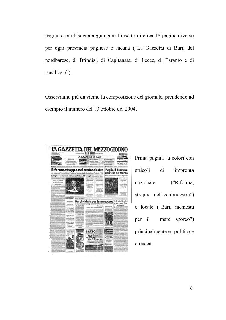 """Anteprima della tesi: La scommessa de """"La Repubblica"""" e del """"Corriere della Sera"""": Un nuovo giornalismo in Puglia?, Pagina 6"""