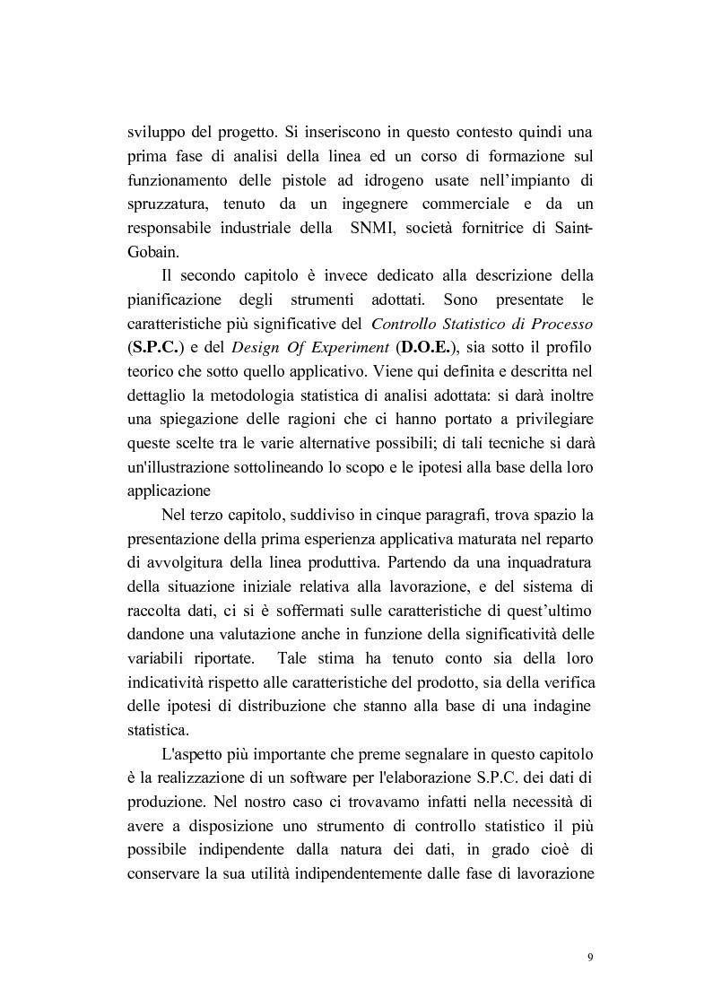 Anteprima della tesi: Progettazione e applicazione di un sistema di controllo in una linea produttiva di componenti elettronici, Pagina 2
