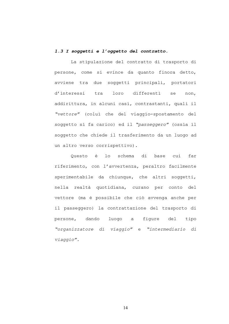 Anteprima della tesi: Il contratto di trasporto di persone, con particolare riguardo ai profili di tutela del consumatore, Pagina 11