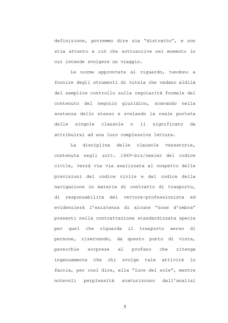 Anteprima della tesi: Il contratto di trasporto di persone, con particolare riguardo ai profili di tutela del consumatore, Pagina 2