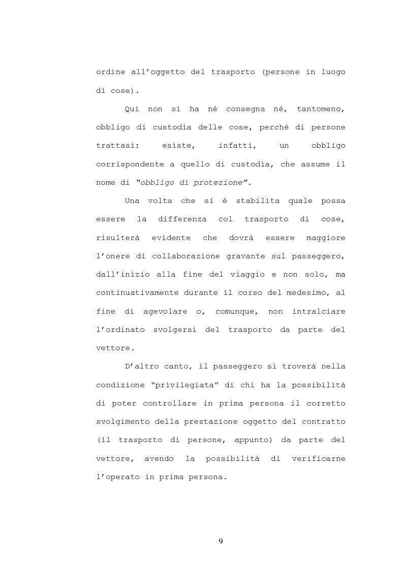 Anteprima della tesi: Il contratto di trasporto di persone, con particolare riguardo ai profili di tutela del consumatore, Pagina 6