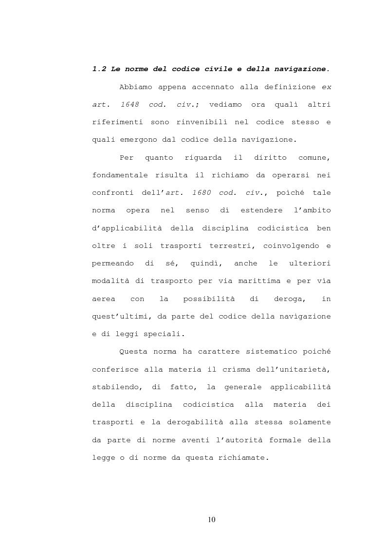 Anteprima della tesi: Il contratto di trasporto di persone, con particolare riguardo ai profili di tutela del consumatore, Pagina 7