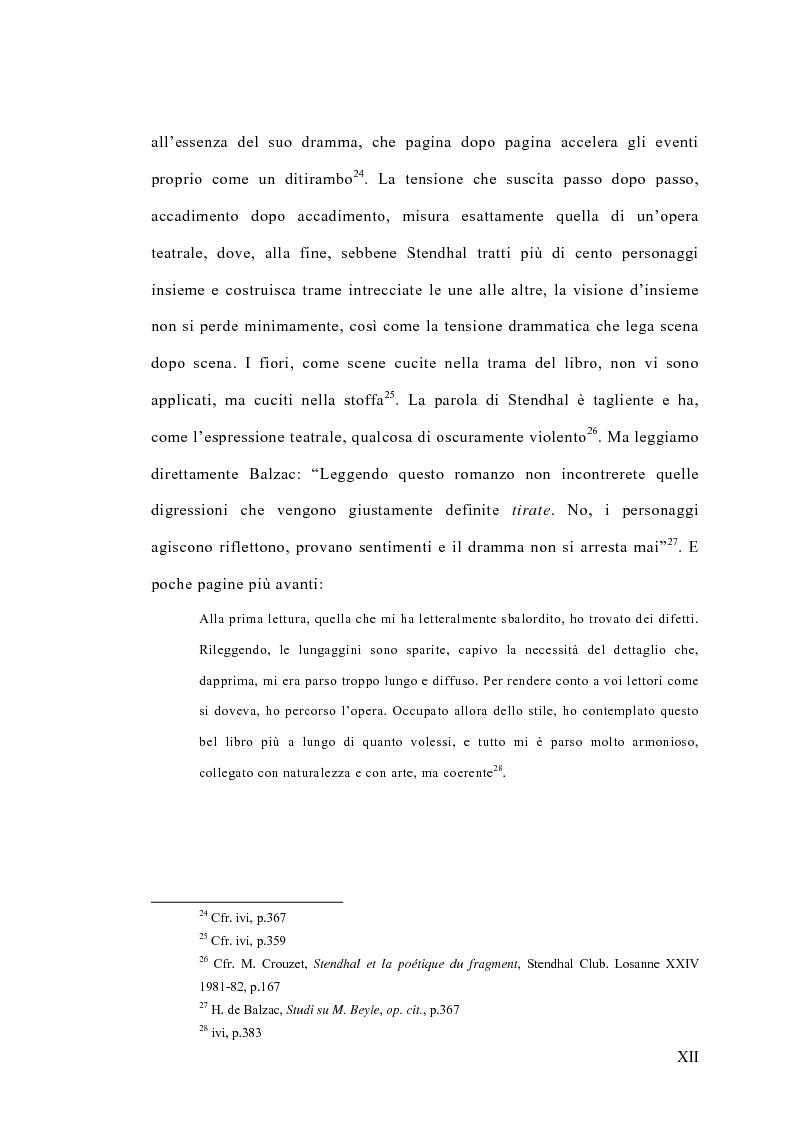 Anteprima della tesi: La concezione della bellezza nell'opera di Stendhal, Pagina 12