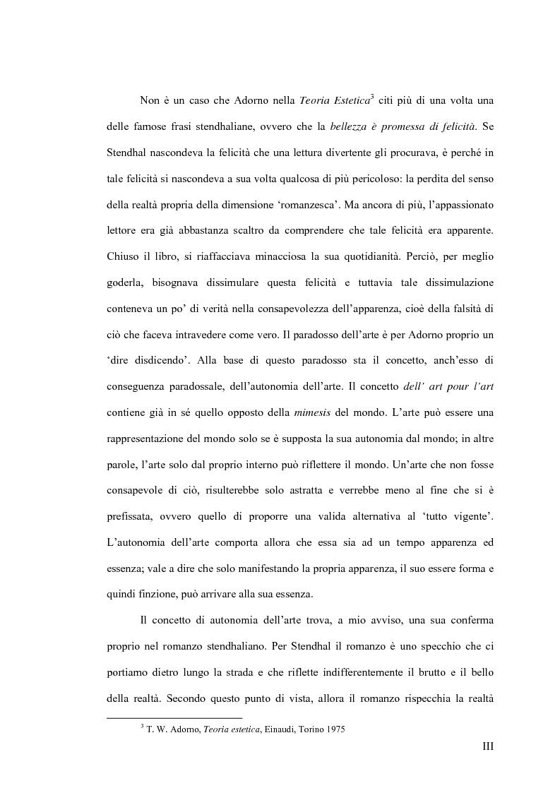 Anteprima della tesi: La concezione della bellezza nell'opera di Stendhal, Pagina 3