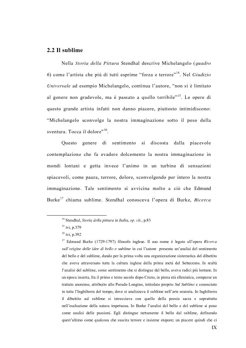Anteprima della tesi: La concezione della bellezza nell'opera di Stendhal, Pagina 9