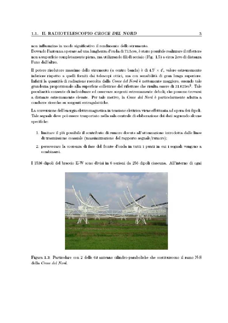 Anteprima della tesi: Studio di algoritmi di beamforming , tecniche di mitigazione delle radiointerferenze e procedure di calibrazione applicabili ai radiotelescopi di nuova generazione (SKA: Square Kilometre Array), Pagina 3