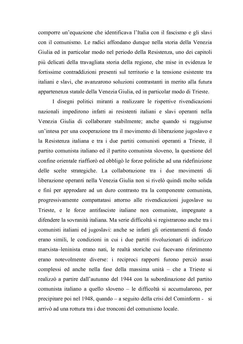 Anteprima della tesi: Il problema dell'unità sindacale a Trieste nell'immediato dopoguerra (1945 - 1947). L'esperienza della Commissione Centrale di Intesa Sindacale., Pagina 4