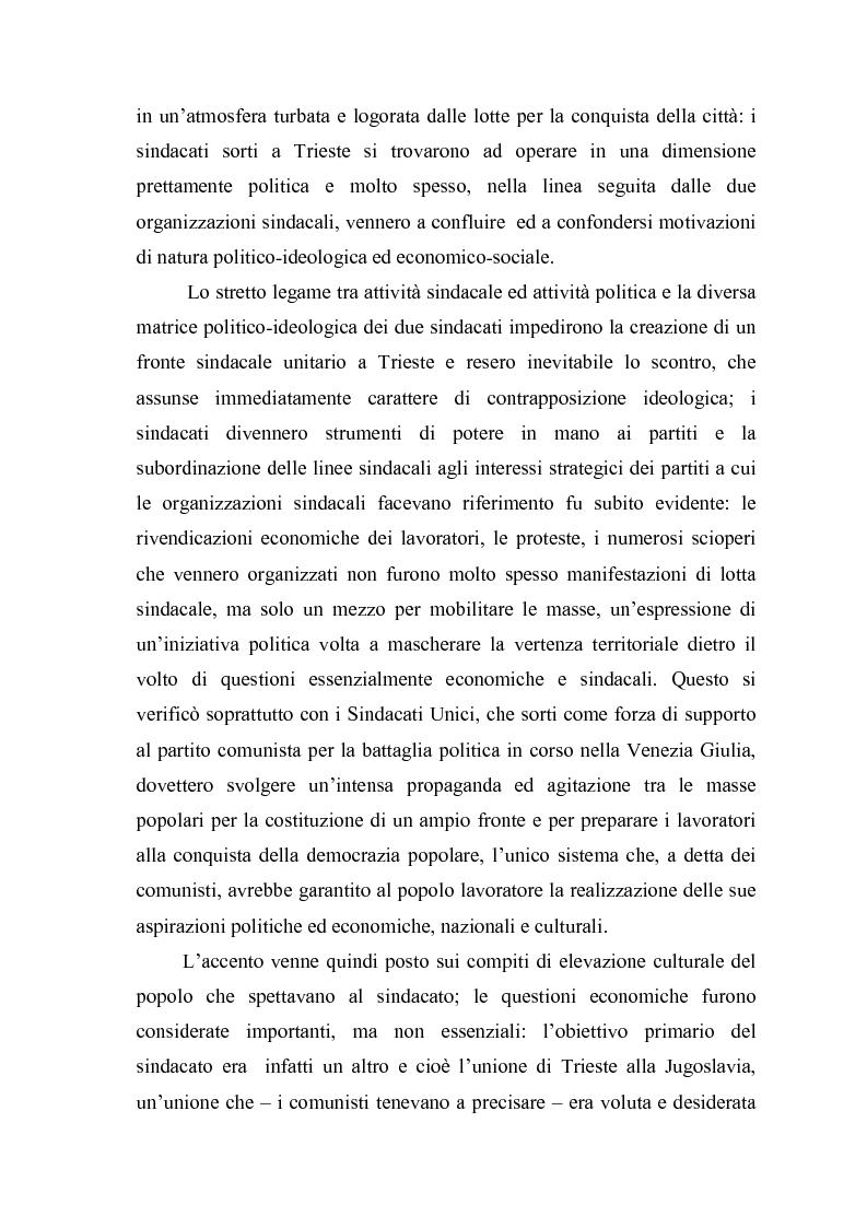 Anteprima della tesi: Il problema dell'unità sindacale a Trieste nell'immediato dopoguerra (1945 - 1947). L'esperienza della Commissione Centrale di Intesa Sindacale., Pagina 6