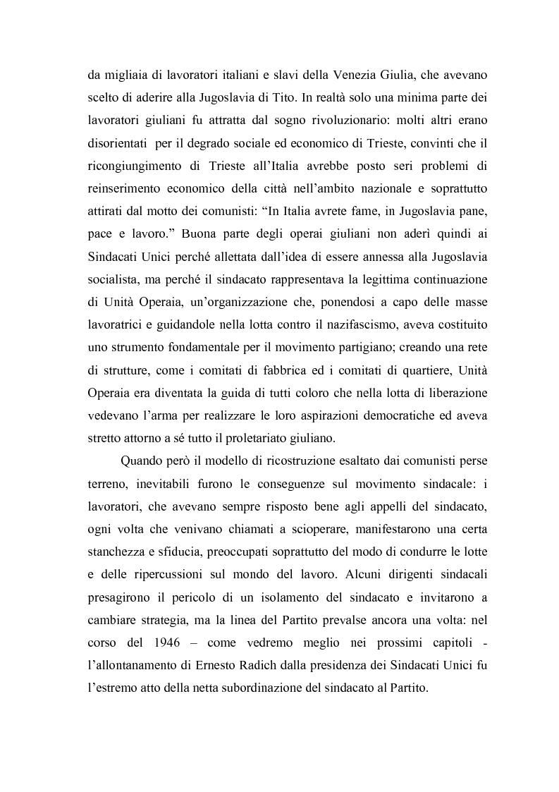 Anteprima della tesi: Il problema dell'unità sindacale a Trieste nell'immediato dopoguerra (1945 - 1947). L'esperienza della Commissione Centrale di Intesa Sindacale., Pagina 7