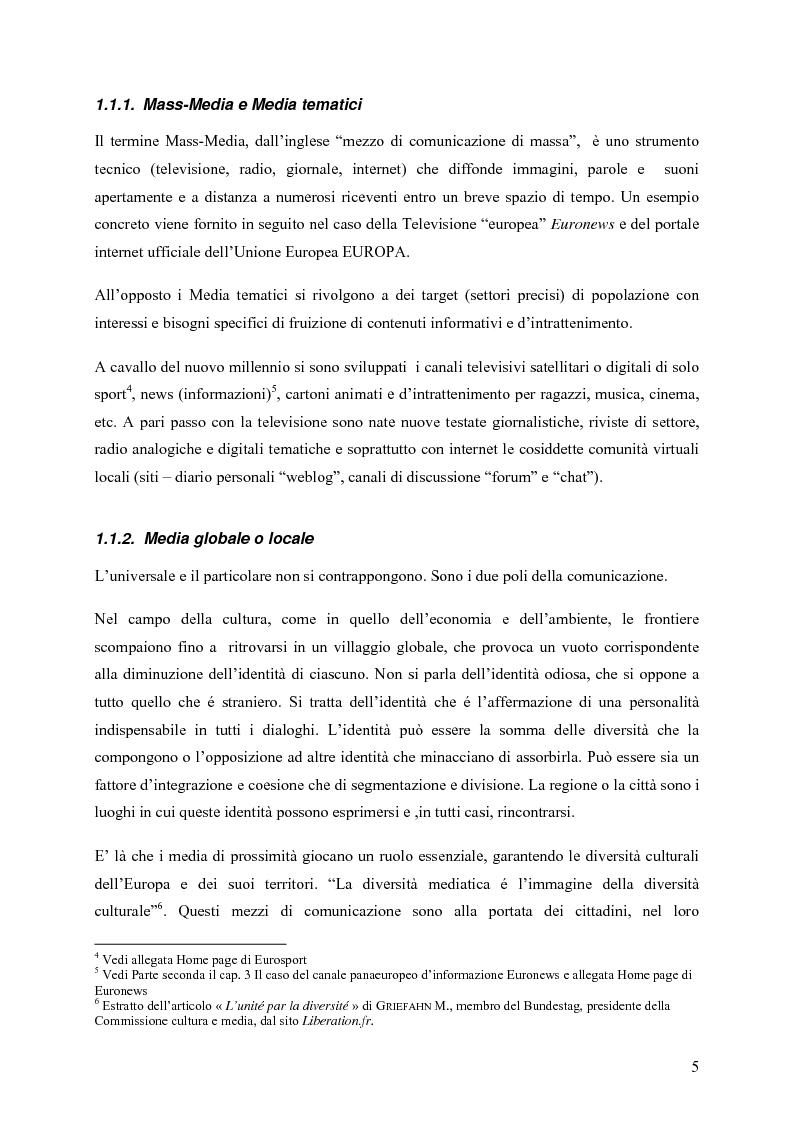 Anteprima della tesi: Un Medium Europeo per un opinione pubblica Europea, Pagina 3