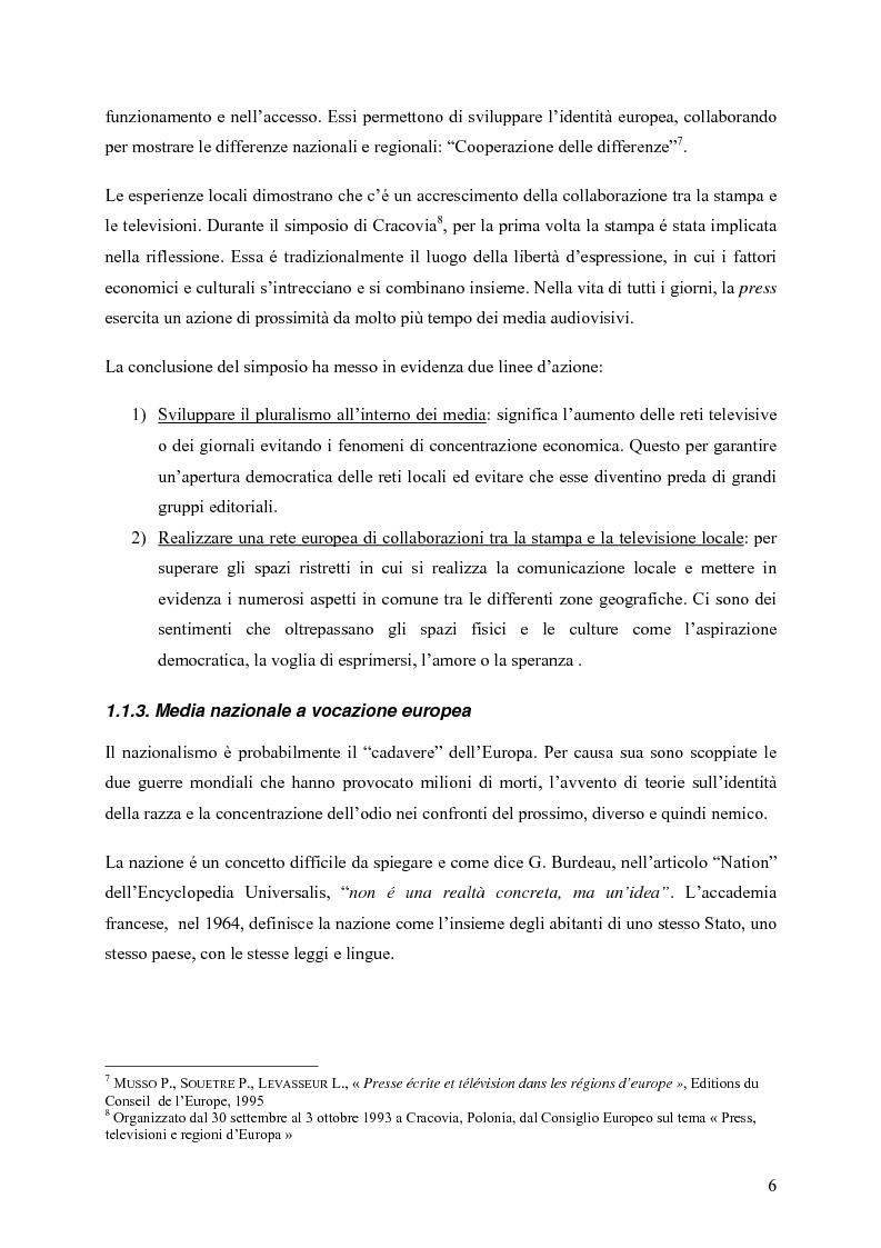 Anteprima della tesi: Un Medium Europeo per un opinione pubblica Europea, Pagina 4